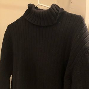 Black Thick Turtleneck Sweater